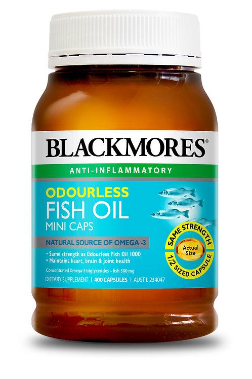 Blackmores Odourless Fish Oil Minis 400 Capsules (₱8.90/Cap) EXP Jul2021