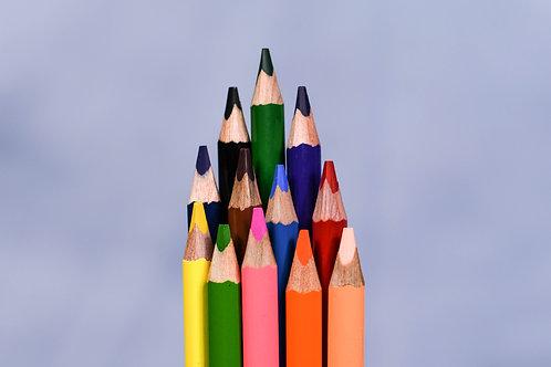 Assorted Colour Pencils Set