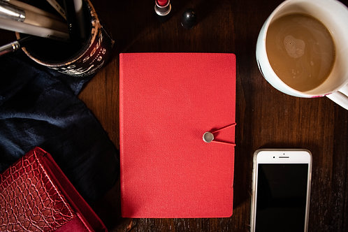 Textured Collection Red Journal