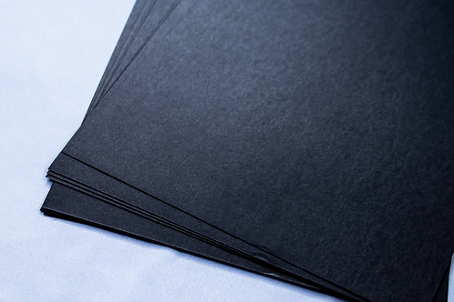 20 Sheets pack of Black Card