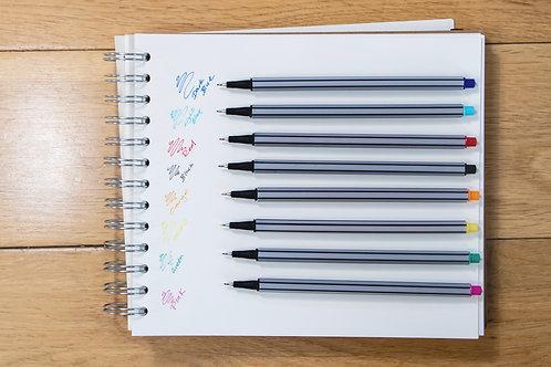 Fineliner Pen Set Assorted Colours
