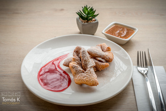 Home-made doughnuts with jam