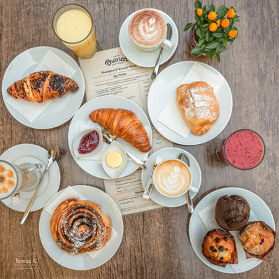 Freshly baked pastries in our restaurant