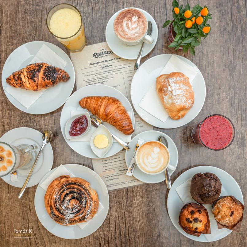 Croissant, kakóscsiga, túróstáska, muffin, házi sütik, mindíg frissen