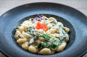 Gnocchi with blue cheese