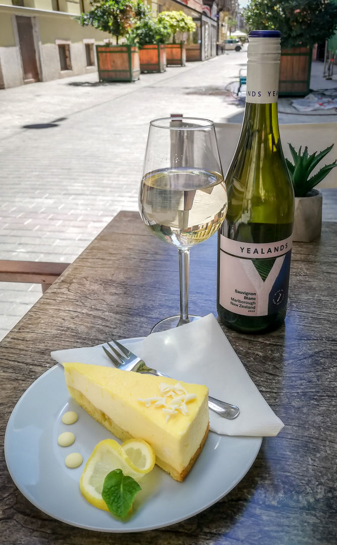 wine & cake on the terrace