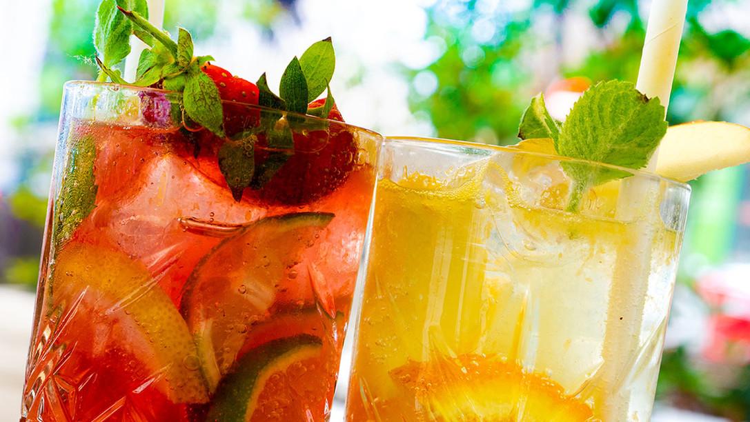 Limonade und frische Getränke