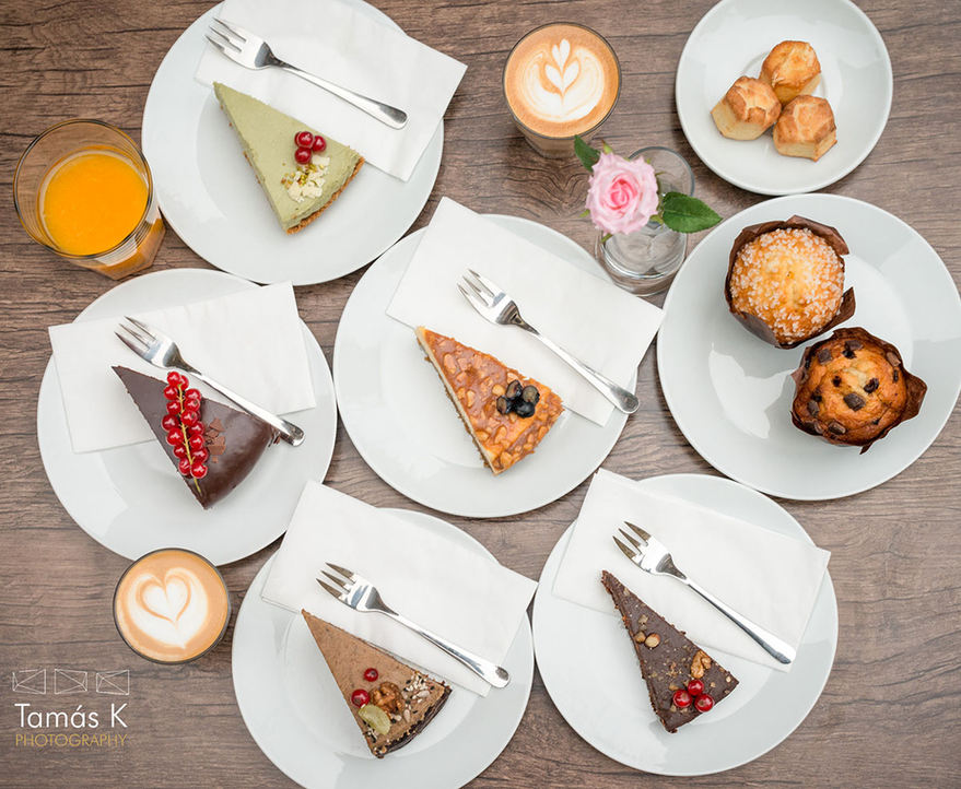 Home made cakes at Cafe Brunch Budapest