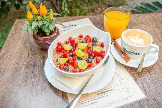 Egészséges reggeli opciók a Cafe Brunchban