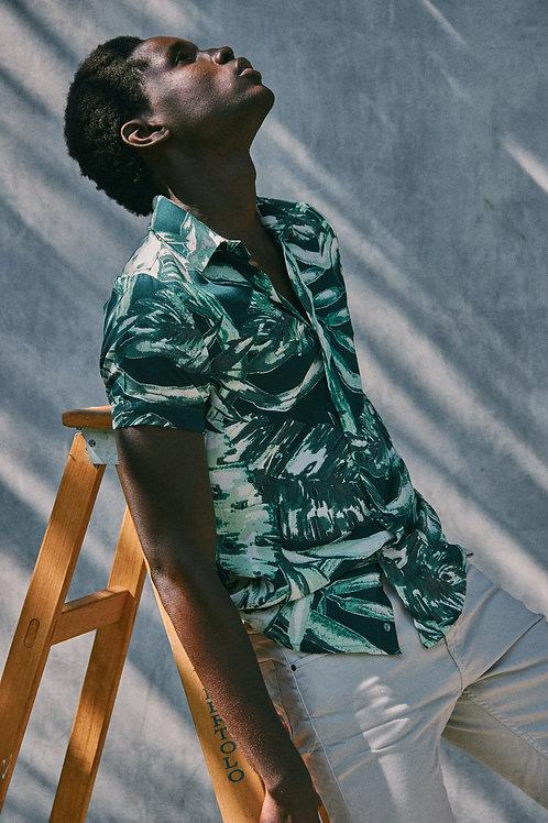 Camisa Folhagem Tropical MC | SB 211.217