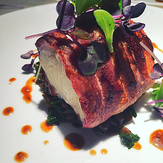 Bacon Wrapped Halibut