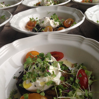 Burrata with Summer Tomatoes