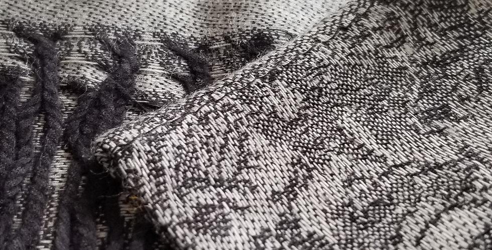 Pashmina Scarf  - Grey/Black