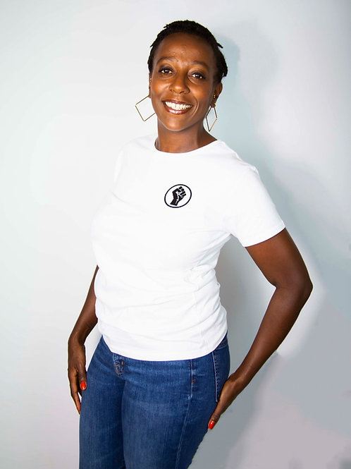 WOMEN'S POWER TEE - White