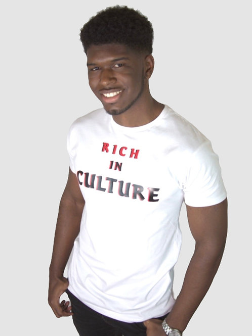 MEN'S RED & BLACK RICH IN CULTURE TEE