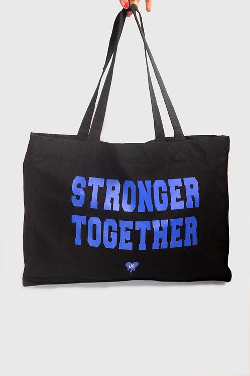 STRONGER TOGETHER BLUE SHOPPER