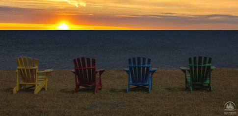 Sit, relax and enjoy the Blue Spruces sunsets