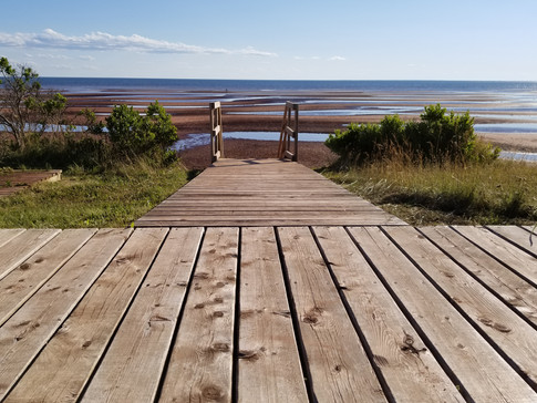 Steps to the red shores of PEI