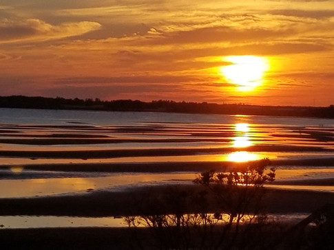 Sunset is a joyful time at Blue Spruces PEI