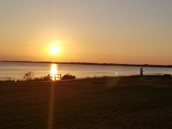 Sunset at Blue Spruces Cottages