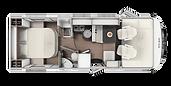 ETRUSCO 7400 INTEGRAL CAMA ISLA 5 plazas 0148LCD