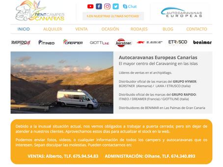 Nuevo protocolo de servicio Rent Camper Canarias