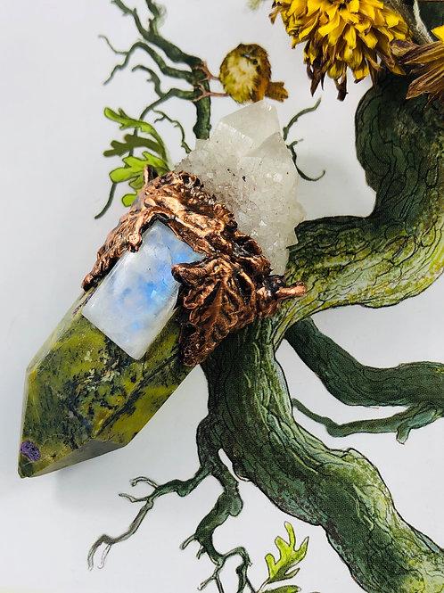 2 Atlantisite/Moonstone & Sugilite Talismans