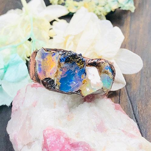Ethiopian Fire Opal Ring
