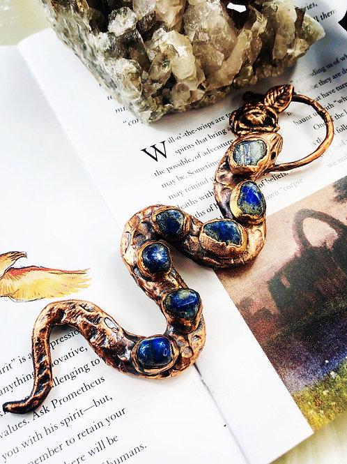 Manasa~ Lapis Lazuli Serpent Talisman