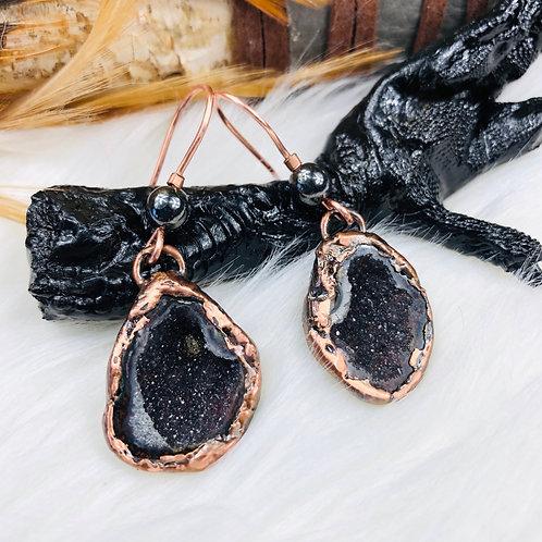 Tabasco Geode Earrings/Necklace/Ring