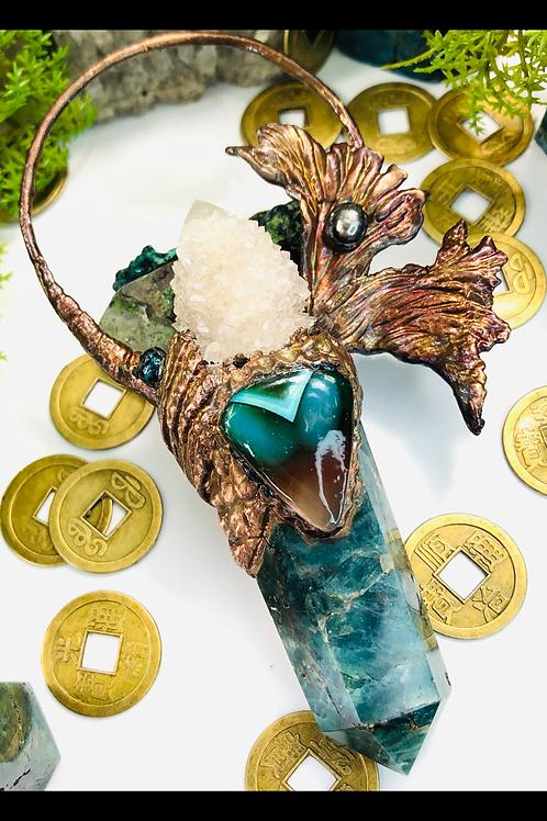 Magickal Depths~ Blue Apatite, Spirit Quartz, Banded Agate & Mother of Pearl