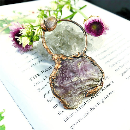 Intuition~Lepidolite Uplifter Pendant