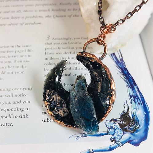 SirenSong~ Black Obsidian & Ocean Kyanite