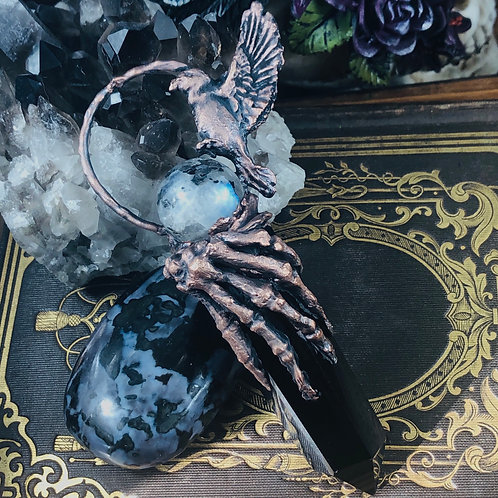 VocemSpiritus~Black Obsidian & Moonstone