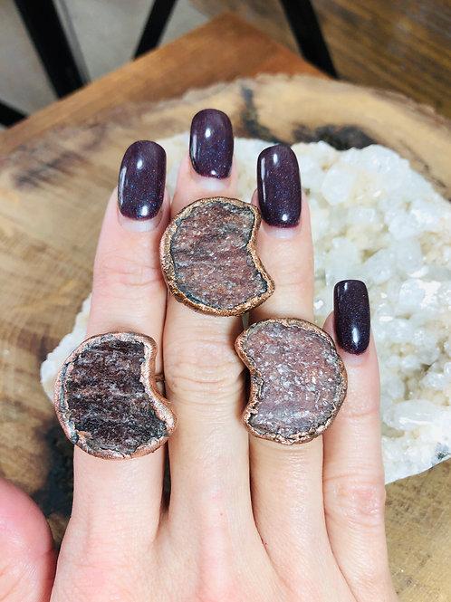 Muscovite Moon Rings