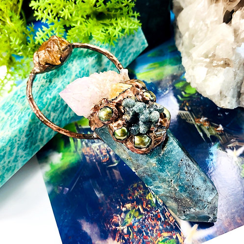 Pearls of Wisdom~Golden Topaz/Grape Agate/Mother of Pearl