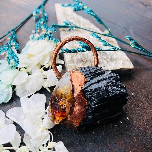The Rock~ Black Tourmaline & Citrine
