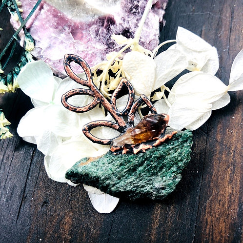 Flowering Light~ Fuchsite & Citrine
