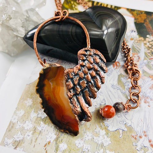The Singer of Love~ Red & Brown Agate