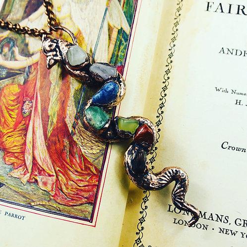 Kundalini Serpent~ Chakra Balancing Pendant