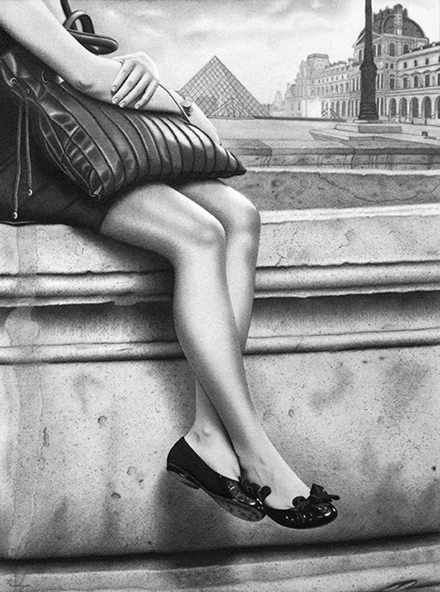 Mujer española en el Louvre
