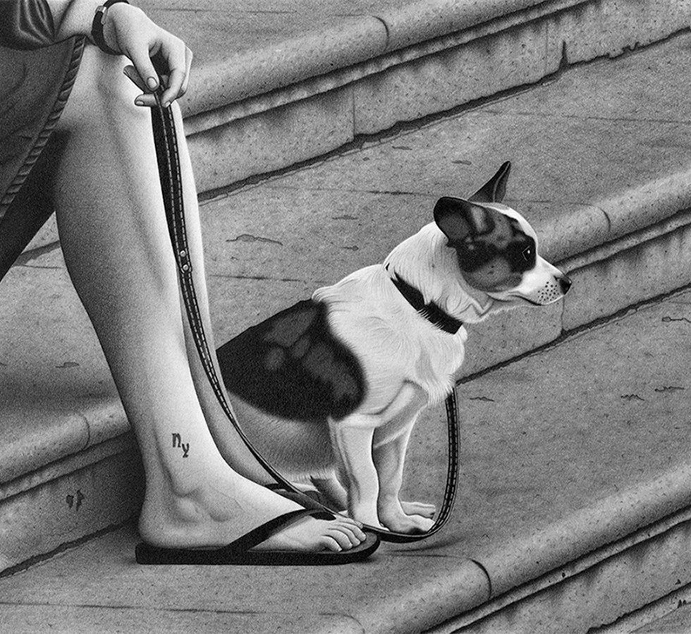 La chica del perro