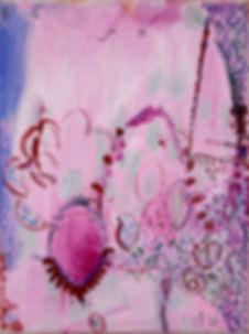 Dark Verse, oil and pen on canvas, 40 x