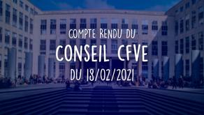 Conseil de la Formation et de la Vie Étudiante du 18/02/2021