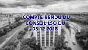 Conseil LSO du 03.12.2018