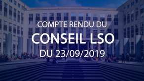 Conseil LSO du 23.09.2019