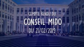Conseil MIDO du 21.02.2019
