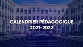Calendrier Pédagogique 2021/2022 - Université Paris Dauphine