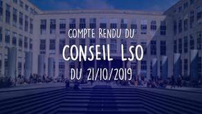 Conseil LSO du 21/10/2019