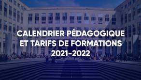 Conseil d'Administration du 12/04/2021 - Calendrier pédagogique et tarifs de formations